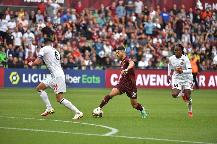 Mikautadze kreeg slechts een korte invalbeurt tegen Metz.