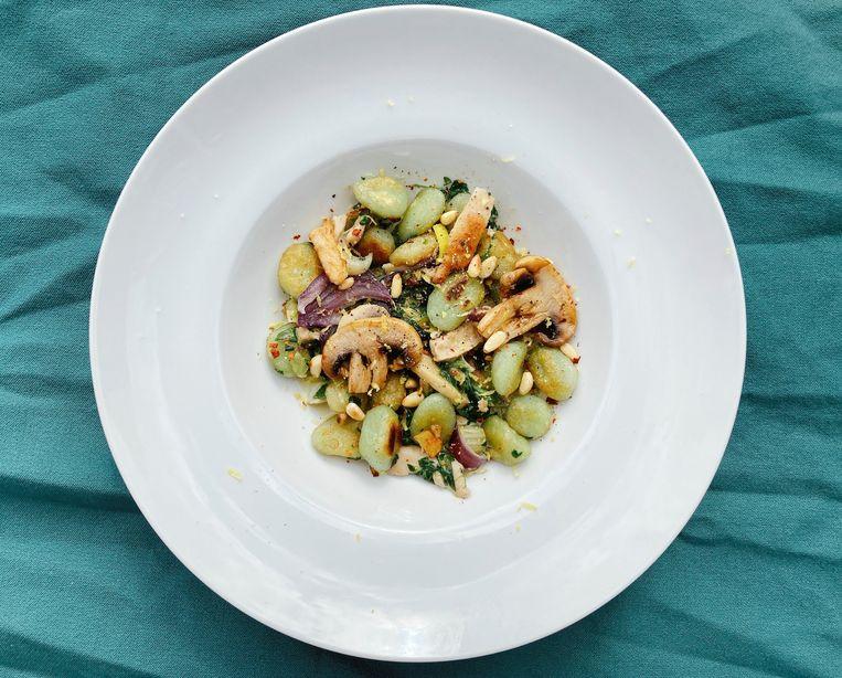 Gnocchi met groenten Beeld Tallina van den Hoed