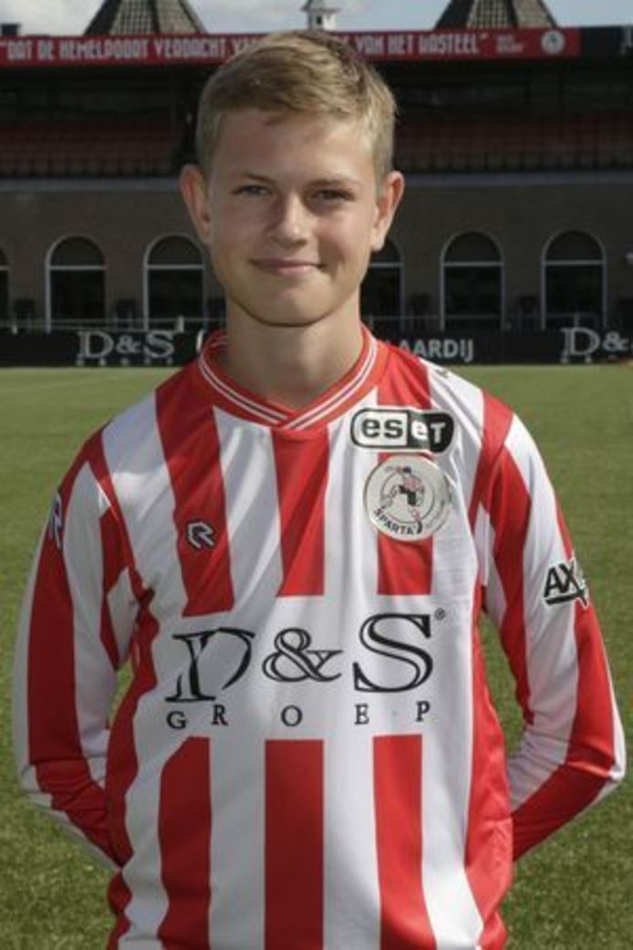 Dies Janse, hier nog in het shirt van Sparta, maar tegenwoordig spelend voor Ajax, is opgeroepen voor een trainingsstage met Oranje onder 16