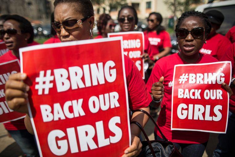 Nigeria wordt sinds april 2014, toen Boko Haram 276 meisjes ontvoerde uit hun kostschool in Chibok, geconfronteerd met een golf van ontvoeringen van studenten.  Beeld Hollandse Hoogte / EPA