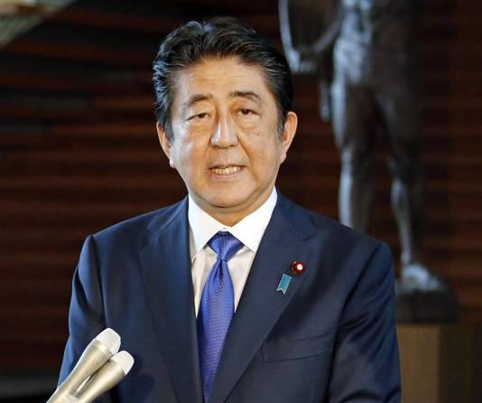De Japanse premier Shinzo Abe