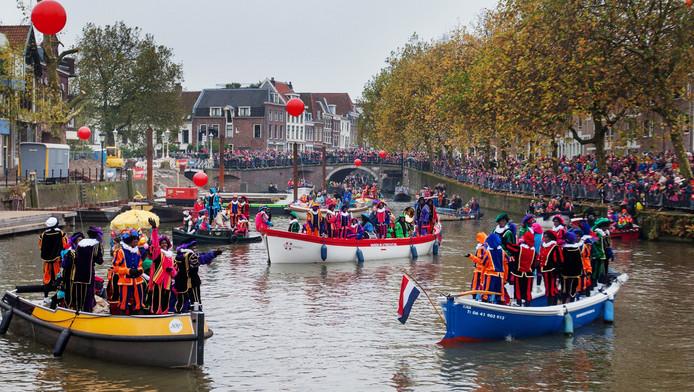 De intocht van Sinterklaas in Utrecht in 2013.