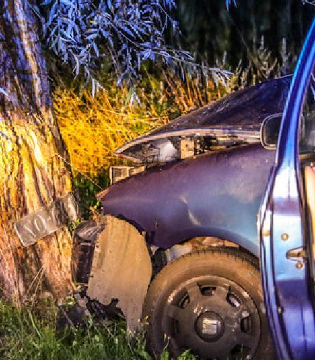 Vrouw gewond door botsing tegen boom in Lunteren