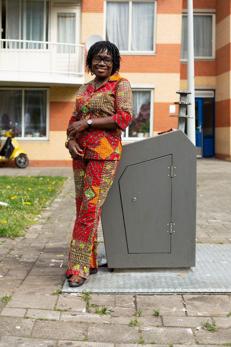 Agartha Frimpong: 'Je komt vreselijke viezigheid tegen.'   Beeld Susanne Stange