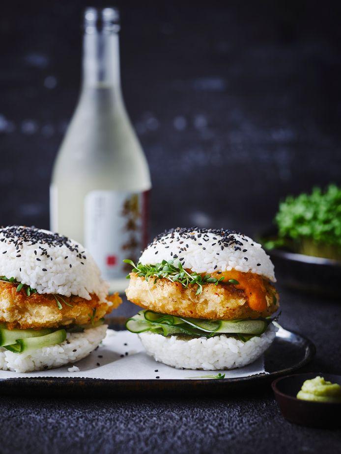 Sushiburger van Kipkatsu
