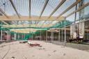 Impressie van de bouw van de 'sobere' scoutingaccommodatie in  2014.