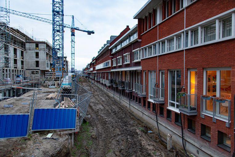 Houses under construction in the Houthavens-district (Amsterdam-West)  Beeld © 2019 Elmer van der Marel