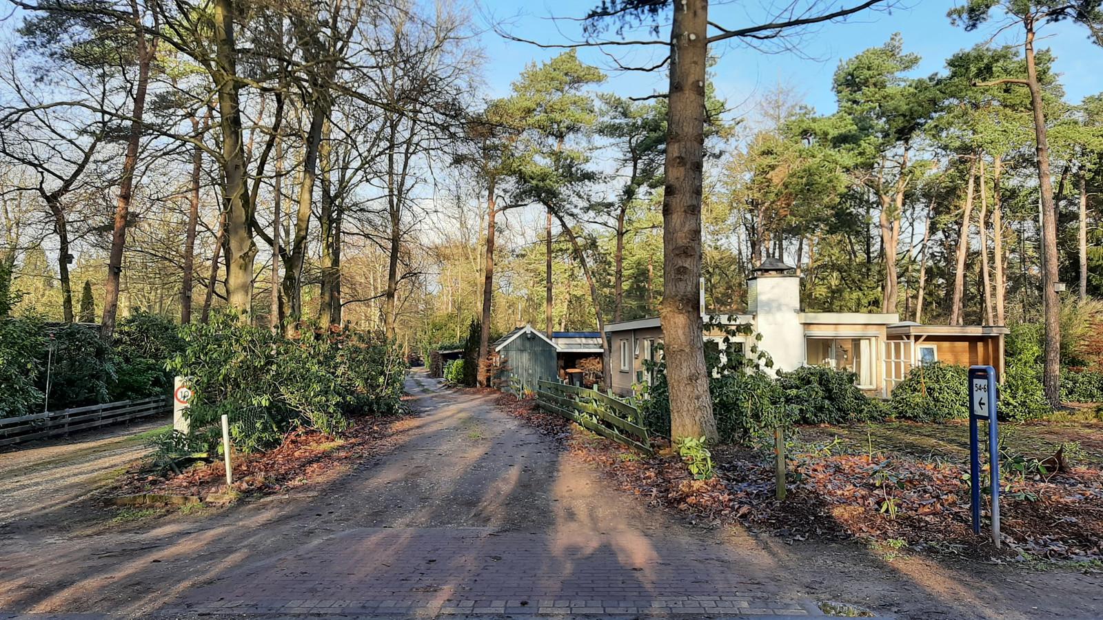 In een huisje aan dit idyllische laantje in bungalowpark Mooi Holten wordt donderdag 7 januari een vrouw van 73 ernstig mishandeld.