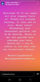 De politie Veenendaal meldde het voorval op instagram