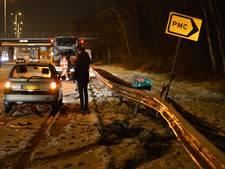 Voertuigen in de slip op de A28 bij Zeist en knooppunt Rijnsweerd