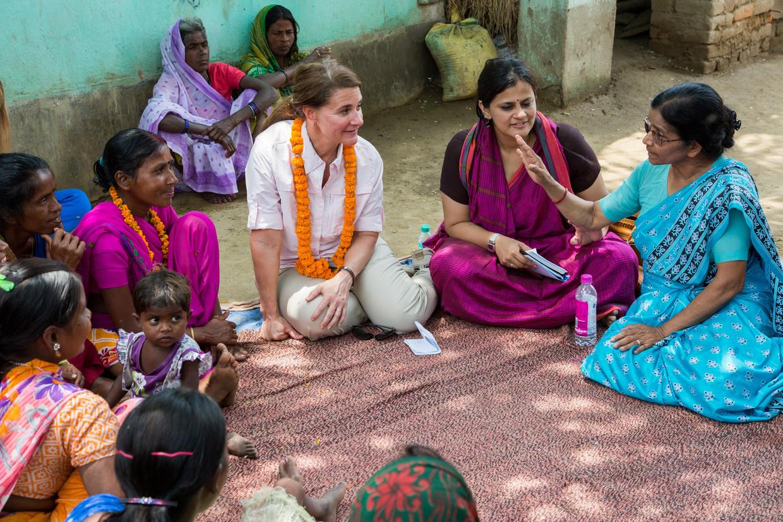 Melinda Gates. Beeld PRASHANT PANJIAR/BILL & GATES FOUNDATION