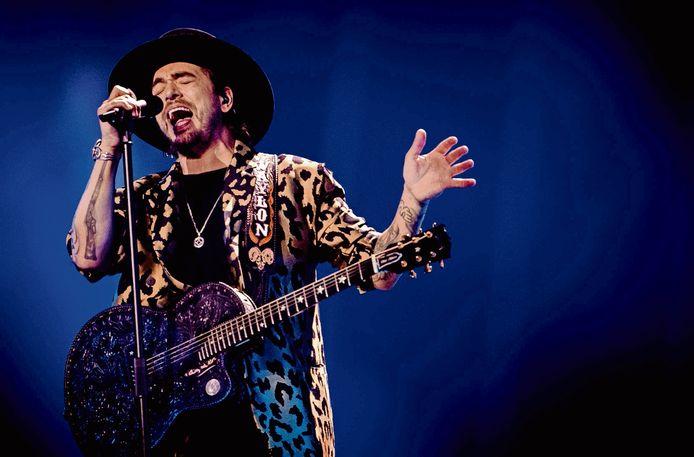 Waylon vanmiddag tijdens de dress rehearsal voor het Eurovisie Songfestival. Enkele uren later zong hij tijdens de generale repetitie.
