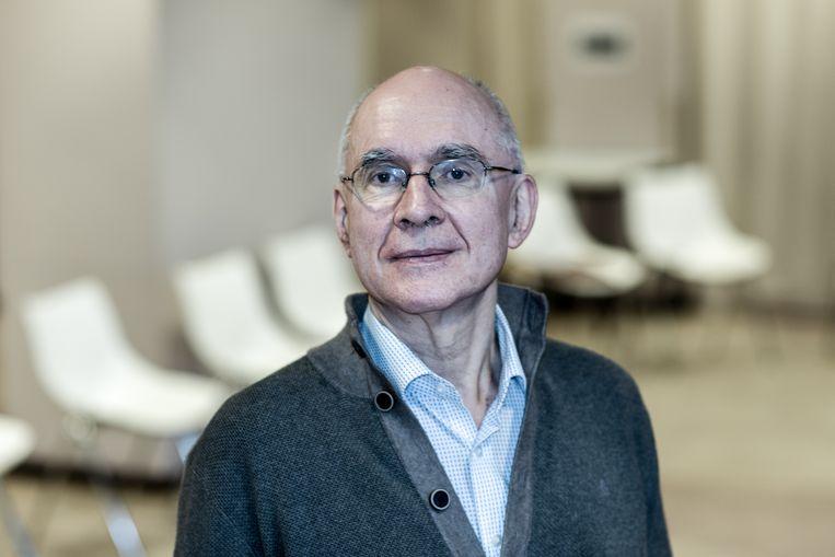 Psychiater Edel Maex runt een stresskliniek in het Antwerpse ziekenhuis ZNA Sint Elisabeth. Beeld Tine Schoemaker