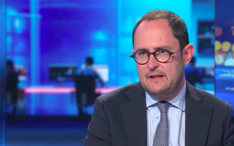 Minister van Justitie Vincent Van Quickenborne (Open VLD). Beeld VTM NIEUWS