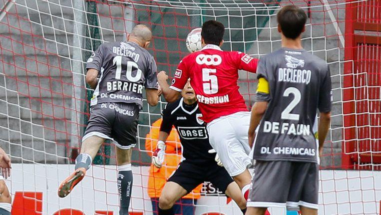 Berrier kopte al snel de enige goal tegen de netten. Beeld BELGA
