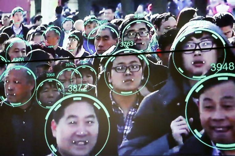 Gezichtsherkenningstechnologie in China. Beeld REUTERS