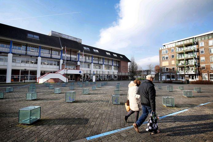 Archieffoto van het Dokter Reilinghplein in Leerdam.
