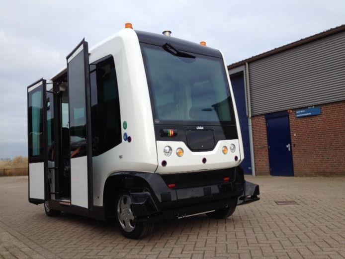 De zelfrijdende auto in Wageningen.