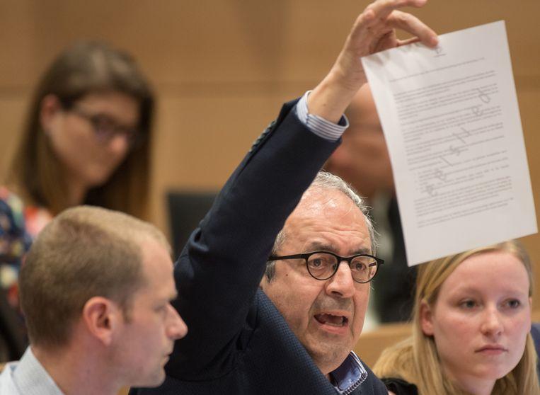 Dirk Van der Maelen vorige vrijdag tijdens de Kamercommissie Defensie. Toen moesten ze het stellen met een erg korte samenvatting van de audits