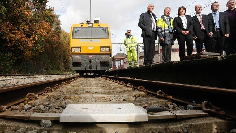 In oktober werd in Wallonië de eerste ETCS-lijn in gebruik genomen. Beeld BELGA