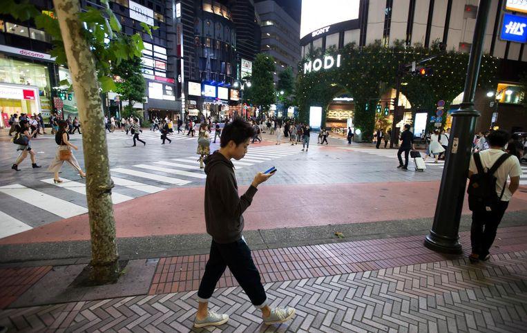 Straatbeeld in Tokio Beeld Getty Images