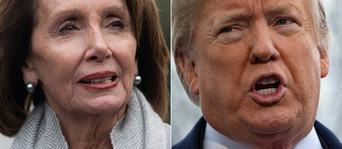 Nancy Pelosi en Donald Trump.