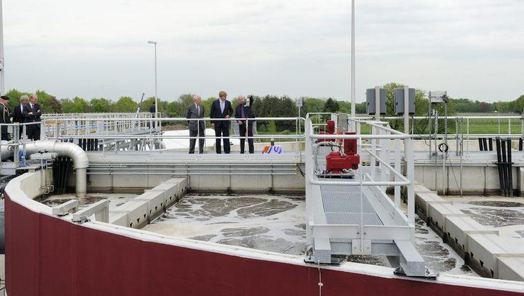 De rioolwaterzuiveringsinstallatie in Epe die gebruik maakt van de Neredakorrels. Beeld anp