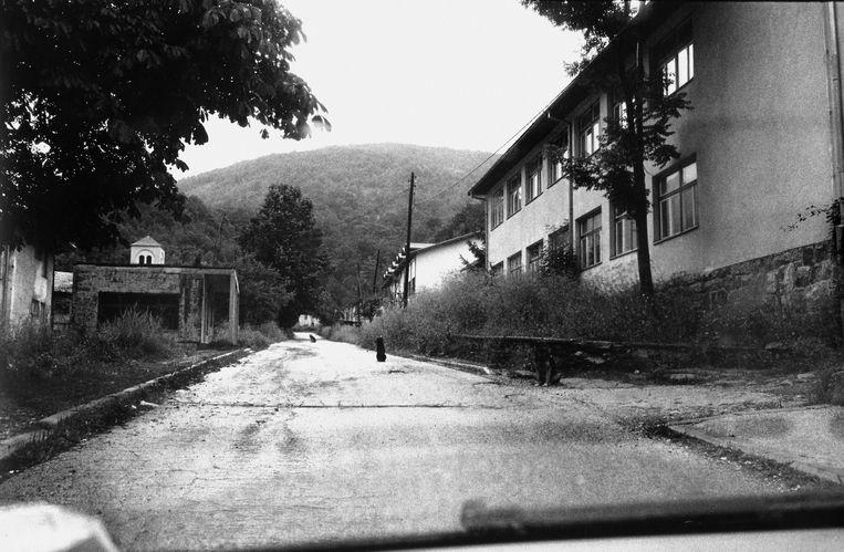 Het door de oorlog getekende Pazaric in Bosnië. Beeld Getty Images