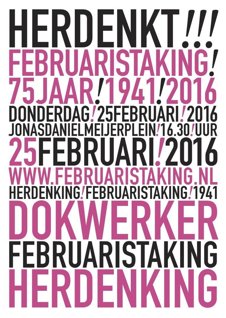 2016. Beeld Comité Herdenking Februaristaking 1941