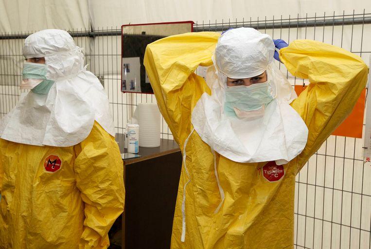 Een training van Artsen Zonder Grenzen in Brussel Beeld BELGA