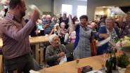 Meer dan 100 senioren vierden 90ste verjaardag van mémé Maria met Paul Bruna