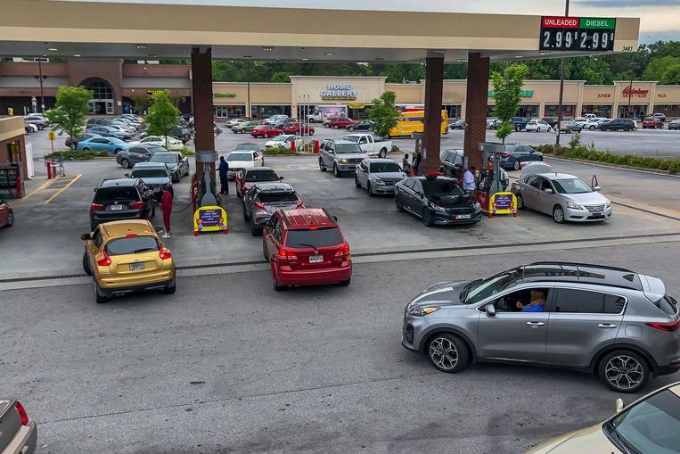 In het oosten van de Verenigde Staten was er dinsdag een run op benzine.  Beeld EPA