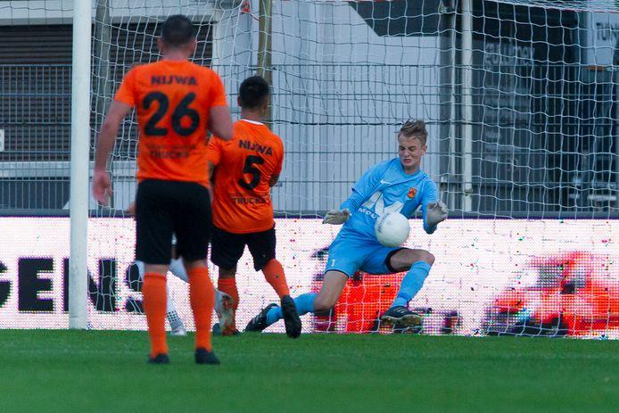 18-09-2018: Voetbal: HHC Hardenberg v FC Groningen: Hardenberg L-R Shkodran Metaj (HHC Hardenberg), Ashwin Manuhutu (HHC Hardenberg), Jorn Jan van de Beld