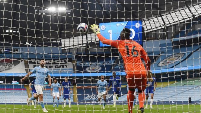 Nog geen titelfeest voor 'KDB-loos' City: Chelsea wint generale repetitie voor CL-finale, Agüero verkwanselt knullig Panenka-penalty
