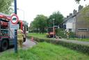 Brandweer en Enexis bij het gaslek in Boxtel.