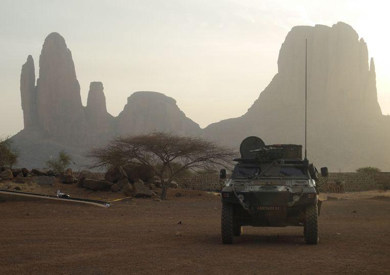 Een Frans pantservoertuig dat deel uitmaakt van Operatie Barkhane in Mali.  Beeld AFP