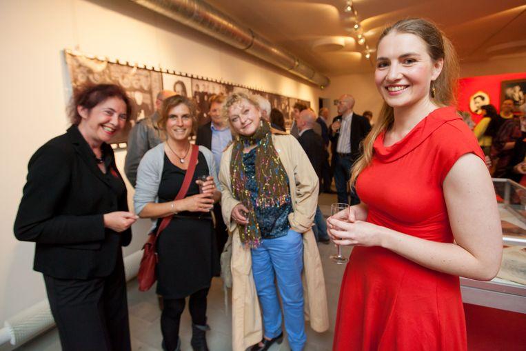(V.l.n.r.) Katrien Ryserhove, Lieve Cornelis die Elisa De Zutter speelt, Regisseur Ingrid De Vos en hoofdrolspeelster Katrijn Govaert.