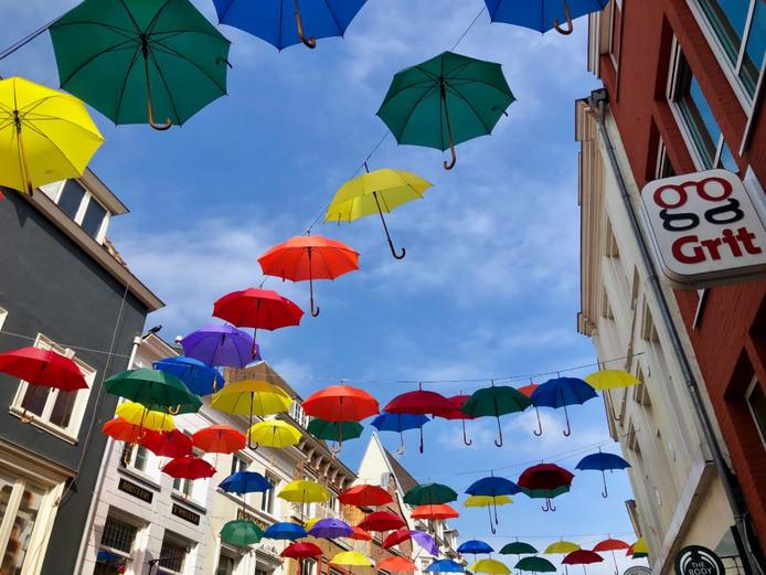 Umbrella Street in Utrecht.