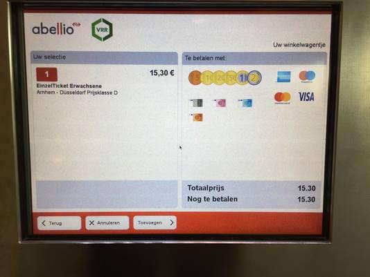 Kosten van een ticket bij Abellio.