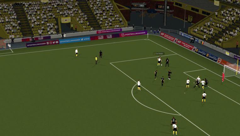 De 3D-weergave van wedstrijden on deze Football Manager is nog steeds grafisch ondermaats.