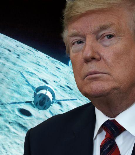 Trumps mars naar de maan: president wil Chinezen en Russen vóór blijven