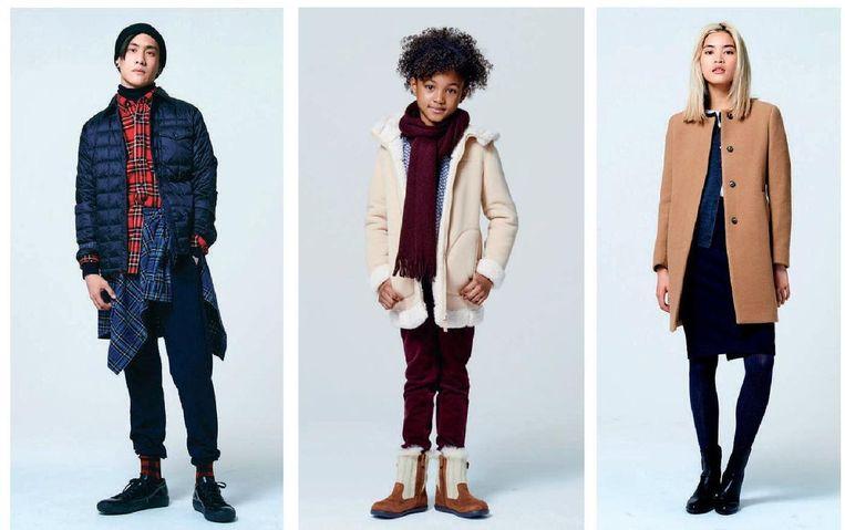 Drie voorbeelden uit de wintercollectie van Uniqlo Beeld RV