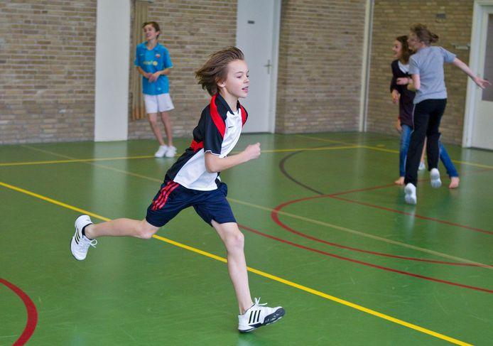 Een leerling trekt een sprint. Foto ter illustratie.