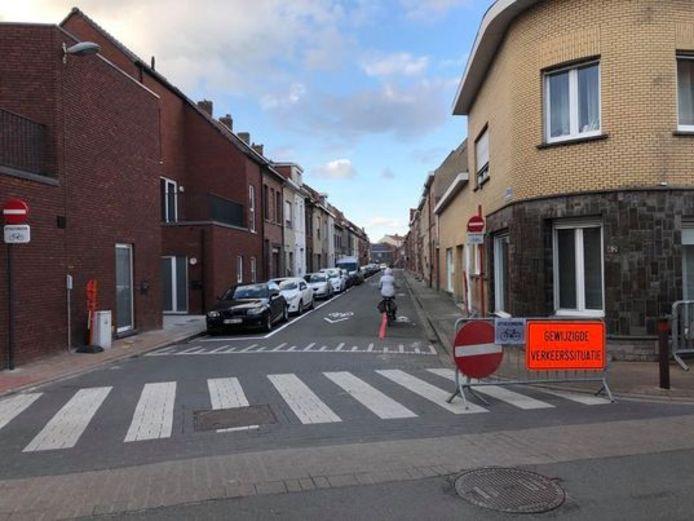De rijrichting in de Leopoldstraat is ook omgedraaid.