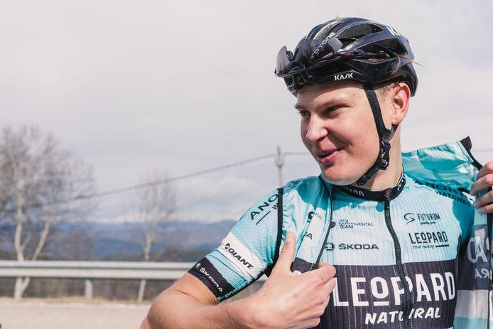 Jarno Mobach, 34ste in de derde etappe van de Ronde van Bretagne.