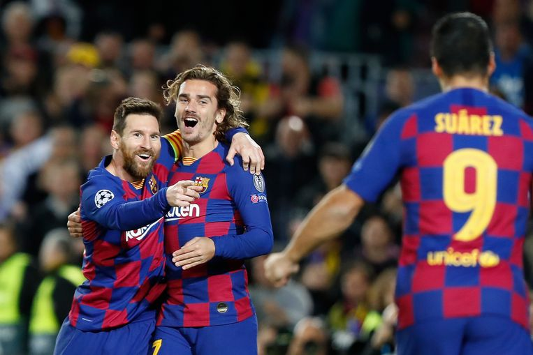 Messi, Griezmann en Suárez scoorden alledrie.