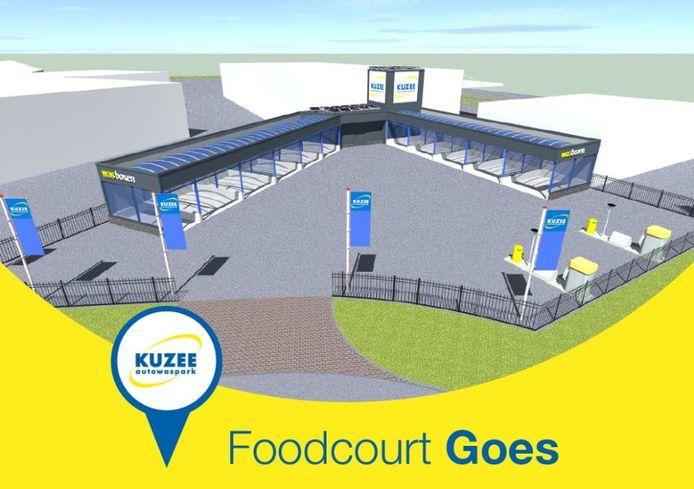 Impressie van het nieuwe autowaspark van Kuzee aan de Hudsonweg in Goes.