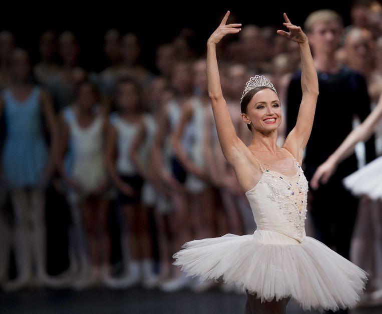 In 2014 won Larissa Lezhnina, danseres bij Het Nationale Ballet in Amsterdam, de Gouden Zwaan. Beeld ANP