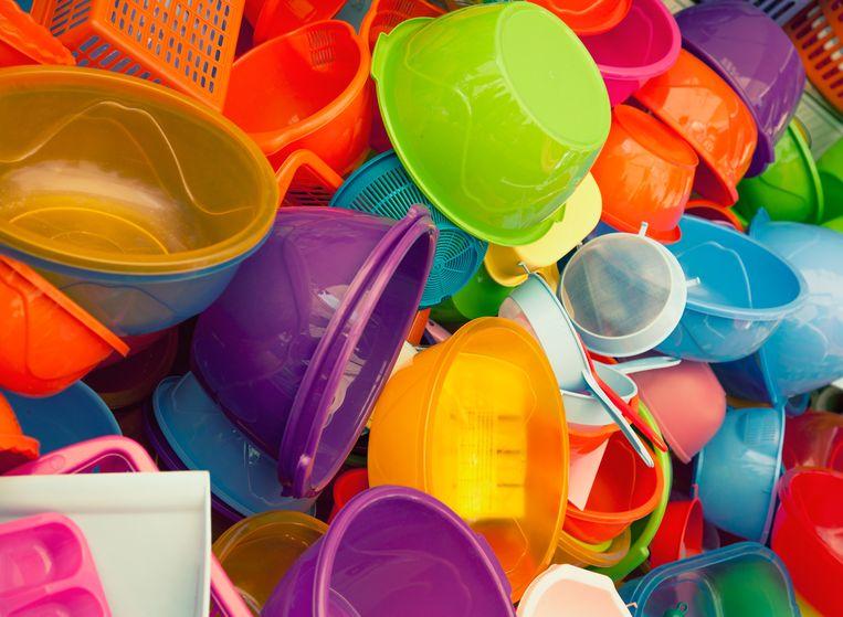 Kleurrijke bakjes Tupperware. Beeld Getty Images