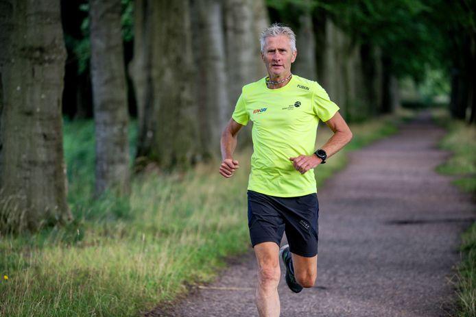 Wim Akkermans uit Vught heeft niet extra getraind. Hij loopt de 100 kilometer op zijn basisconditie.